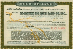 The original deed that appeared in 1955 cereal boxes