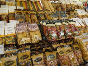"A selection of pasta at ""Campo di Fiori"" in Rome"