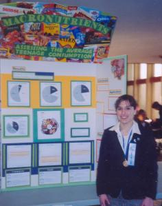 Mary at the Science Fair - 2006