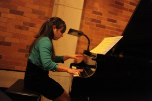 Me Playing the Piano at Massey