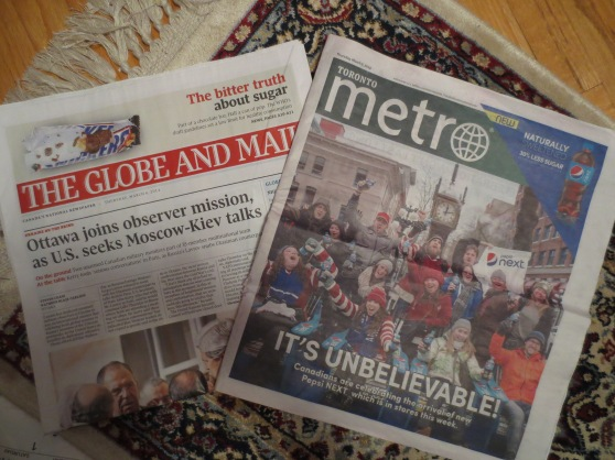 Newspapers - March 6th 2014