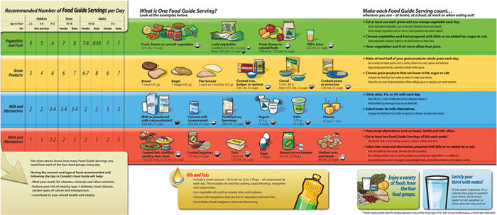 Eating Well With Canada's Food Guide | Adult Literacy and ...